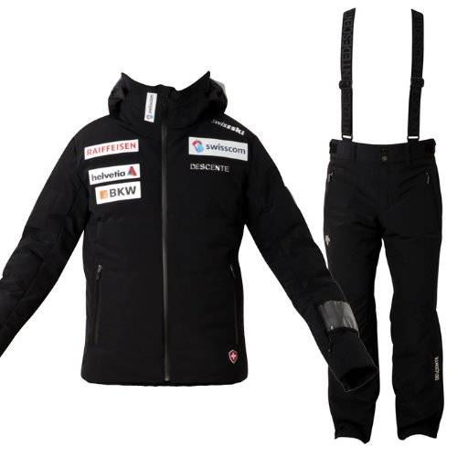 데상트 1819 스위스 팀복 스키복데상트DESCENTE SWISS TEAM NILO BK+PANTS BK/DWMMGK28+DWMMGD03