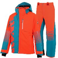 온요네 2021 DEMO OUTER SKI WEAR_F.ORANGExTURQUOISE