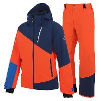 온요네 스키복2021 TEAM OUTER SKIWEAR_F.ORANGE_NAVY